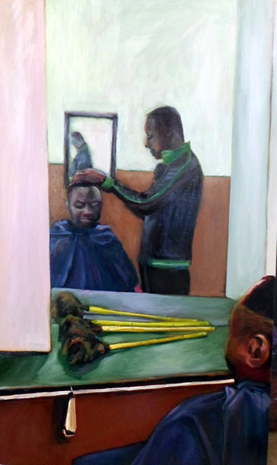 Barber shop painting by JDK